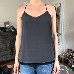Express black and gray Barcelona cami. Size Small